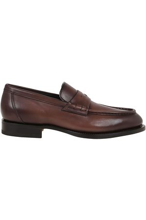 santoni MEN'S MCCO16734PC4NGTHT60F LEATHER LOAFERS