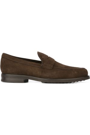 Tod's MEN'S XXM0ZF0Q920RE0S800 SUEDE LOAFERS