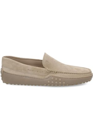 Tod's MEN'S XXM24C0S570RE0C609 BEIGE LEATHER LOAFERS