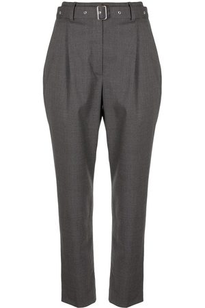Proenza Schouler Melange suiting carrot cropped trousers
