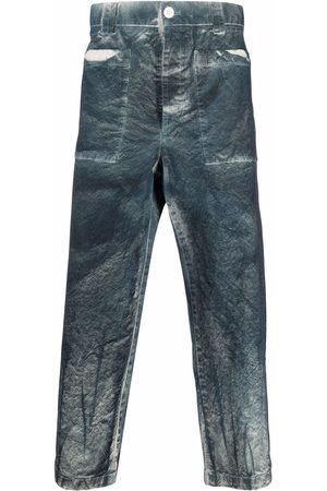 SUNNEI Bleached-effect cropped trousers