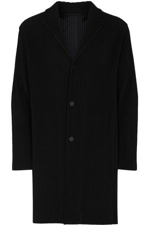 HOMME PLISSÉ ISSEY MIYAKE Men Coats - Pleated button-front coat