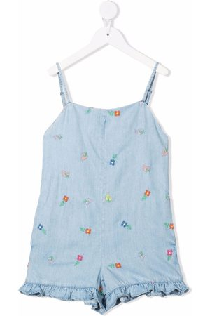 Stella McCartney Girls Playsuits - Floral-embroidered playsuit