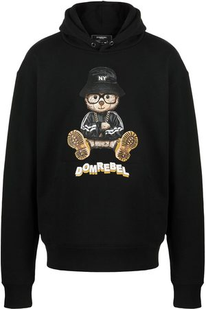 DOMREBEL NY Bear graphic-print pullover hoodie