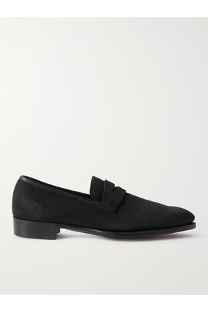 GEORGE CLEVERLEY Men Loafers - George Pebble-Grain Suede Penny Loafers