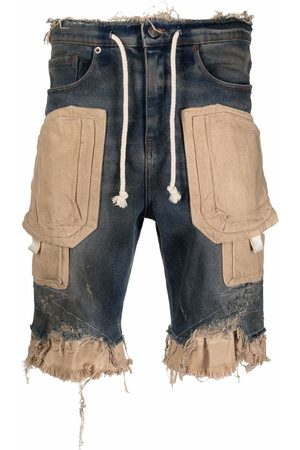 VAL KRISTOPHER Raw-cut panelled shorts