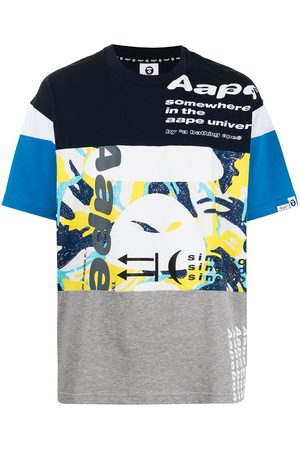 AAPE BY A BATHING APE Panelled cotton T-shirt