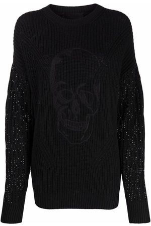 Philipp Plein Women Jumpers - Crystal-embellished knitted jumper