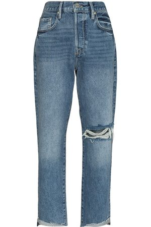 Frame Le Original ripped cropped jeans