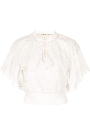 ALICE+OLIVIA Women Blouses - Tabitha embroidered smock blouse