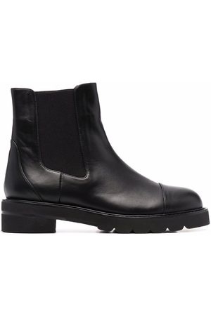 Stuart Weitzman Women Ankle Boots - Frankie Lift leather ankle boots