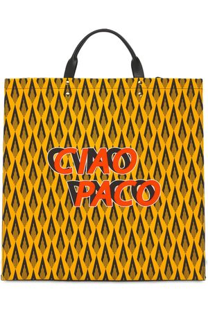 Paco rabanne Women Tote Bags - Ciao Paco Cotton Canvas Tote Bag