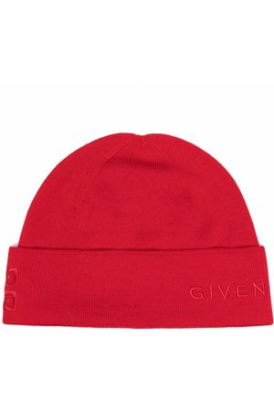Givenchy Embroidered-logo wool beanie