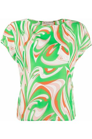 Emilio Pucci Abstract-print cotton T-shirt