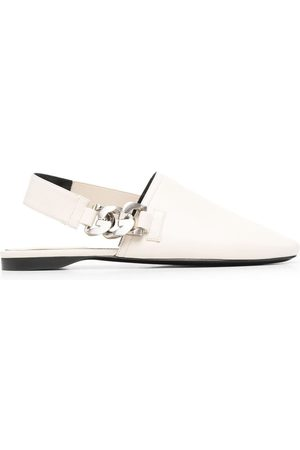 Givenchy Chain-link slingback mules