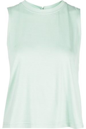 Marchesa Notte Round neck cropped tank top