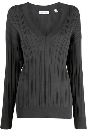Equipment Women Tops - Anderes V-neck knitted top