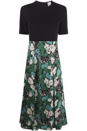 Paul Smith Women Printed Dresses - Floral-print panelled dress