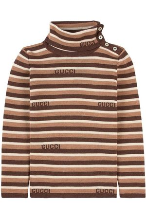 Gucci Long Sleeve - Kids - Brown Turtleneck Sweater - Girl - 18-24 months - - Long sleeved t-shirts