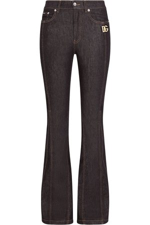 Dolce & Gabbana Women Bootcut & Flares - Logo-patch flared jeans