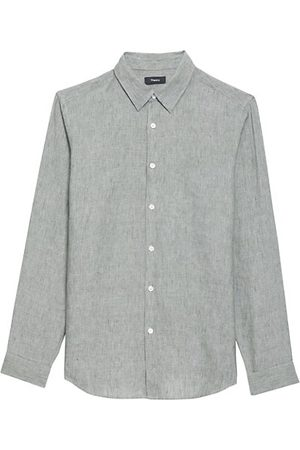 THEORY Men Casual - Irving G. Solid Linen Shirt
