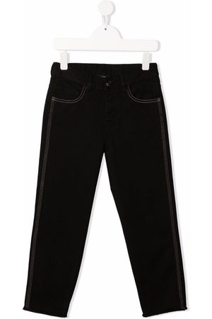 Nº21 Logo-embroidered denim trousers