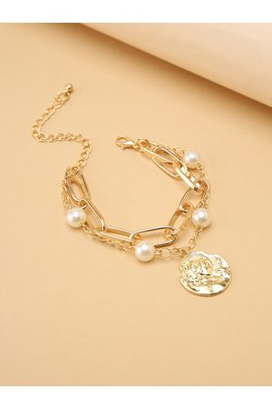 YOINS Women Body Accessories - Graphic Double Layer Pearl Alloy Chain
