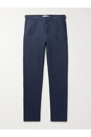 Orlebar Brown Bodnant Slim-Fit Linen and Cotton-Blend Trousers