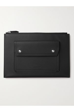 Burberry Full-Grain Leather Pouch