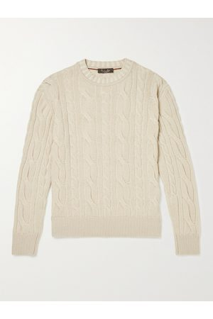 Loro Piana Baby Cable-Knit Baby Cashmere Rollneck Sweater