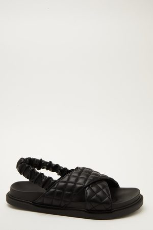 Quiz Quilted Cross Strap Sandals