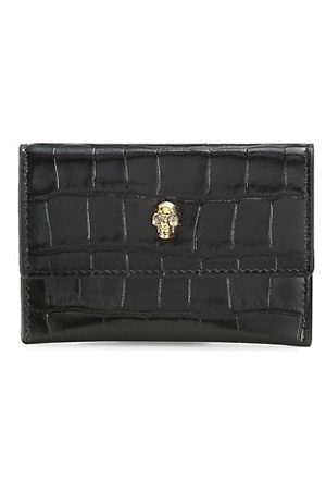 McQ Crocodile-Embossed Leather Envelope Card Case