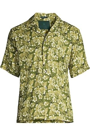 ROI DU LAC Atene Del Nord Muted Floral Camp Shirt