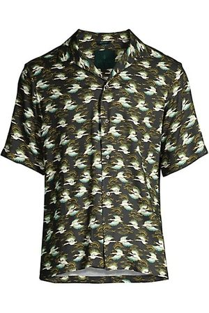 ROI DU LAC Men Casual - Atene Del Nord India Geese Camp Shirt