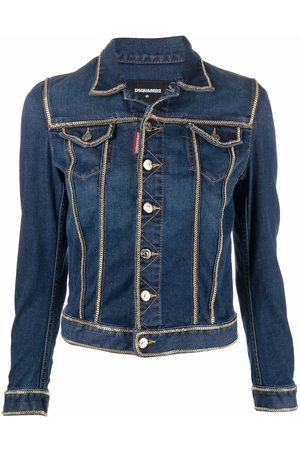 Dsquared2 Chain-detailed cropped denim jacket
