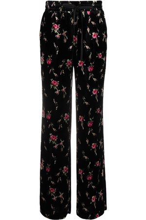 RED Valentino Rose-print elasticated-waist trousers