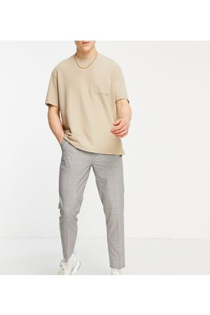 New Look Tapered smart trousers in check
