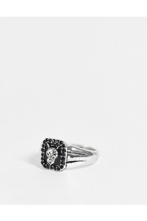 Chained & Able Prince black stone ring in