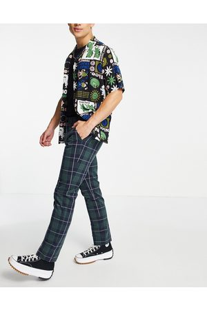 Farah Elm check tapered fit trousers