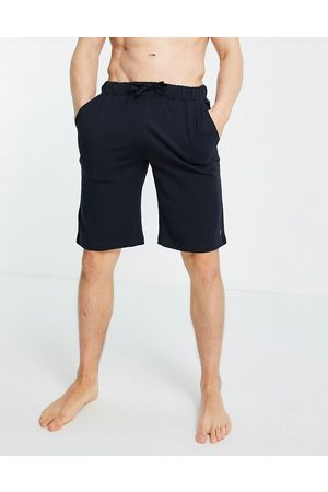 French Connection Jersey lounge joggers in marine and gunmetal