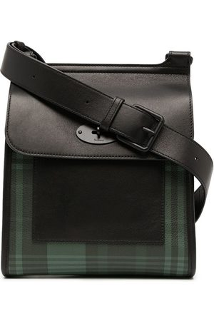 Mulberry Antony tartan-checked grained leather shoulder bag