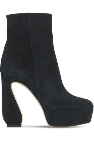 SI ROSSI 125mm Platform Suede Ankle Boots