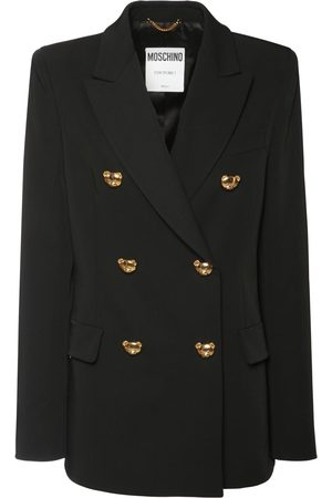 MOSCHINO Stretch Wool Double Breasted Jacket