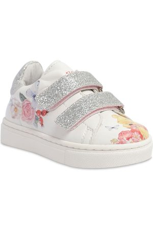 MONNALISA Winnie The Pooh Faux Leather Sneakers