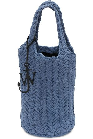 JW ANDERSON Knitted Organic Cotton Tote Bag
