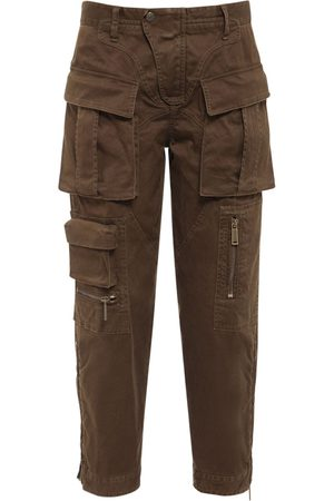 DSQUARED2 Women Cargo Pants - Stretch Cotton Twill Cargo Pants