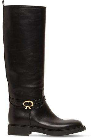 GIANVITO ROSSI 20mm Cavalier Tall Leather Boots