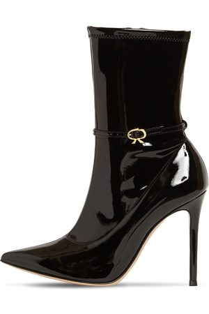 GIANVITO ROSSI 105mm Stretch Faux Patent Leather Boots
