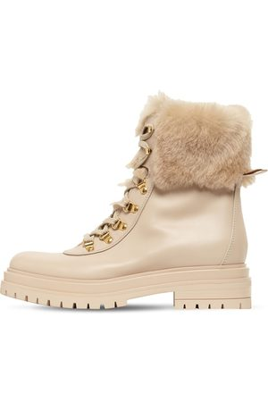 GIANVITO ROSSI 30mm Alaska Leather & Shearling Boots