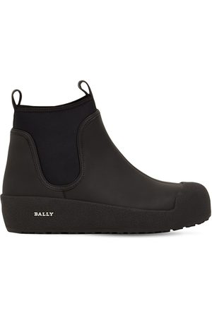 Bally 30mm Gadey Rubberized Leather Boots
